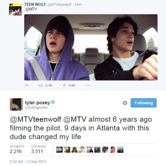 Teen Wolf cast - Tyler Posey´s tweet