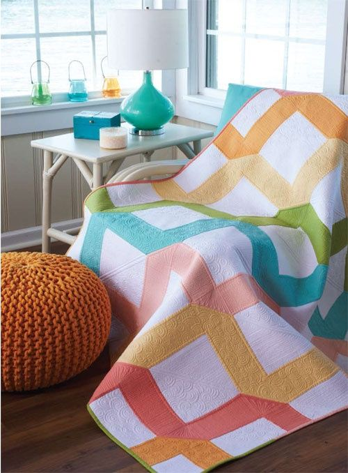 solid pastel quilt, would also look good in patriotic colors or batiks with black background