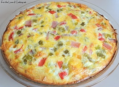Bacon, Green Chile, & Cheddar Quiche with a Shredded Potato Crust ...