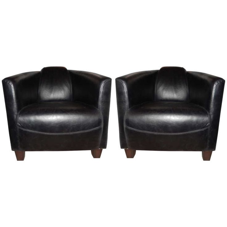 Sofa Covers Pair of Art Deco Style Leather Club Chairs