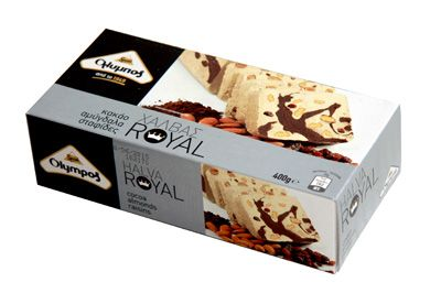 Халва тахинная с шоколадом, изюмом и миндалём (Греция) http://eda-eko.ru/
