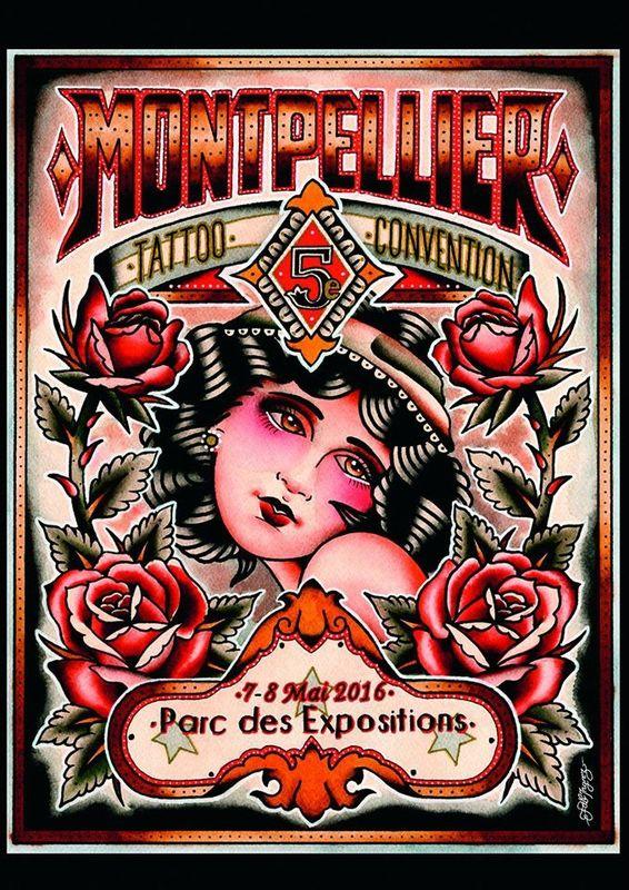 Salon du tatouage de Montpellier 23 et 24 avril 2016.