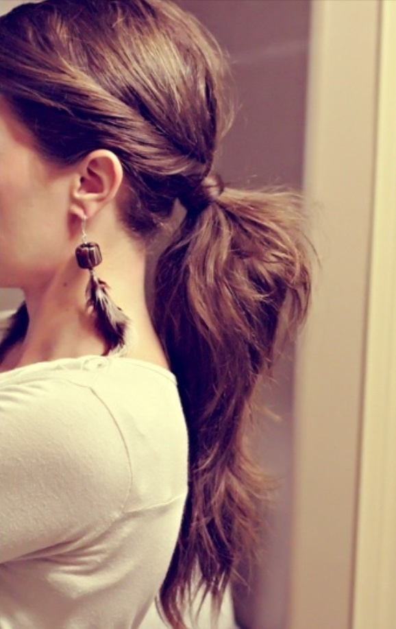 Ponytail <3 My personal favorite hairstyle!