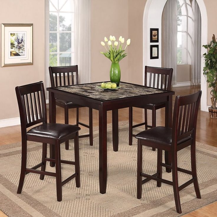 Discount Dining Room Table Sets   Dining Room Sets With Glass Or Marble Top  Table