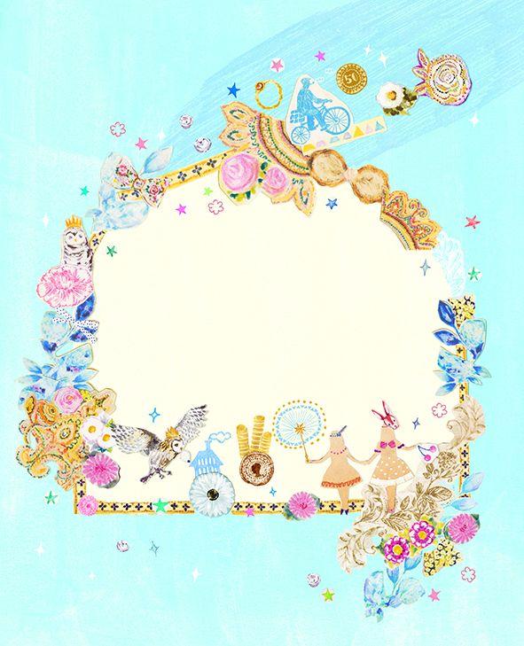 #glow_MOOK #animal #frame #枠 #動物 #広告 #花 #flower #デザイン #お洒落 #可愛い #線画 #コラージュ #collage #illustration #kanakobayashi #art #illust