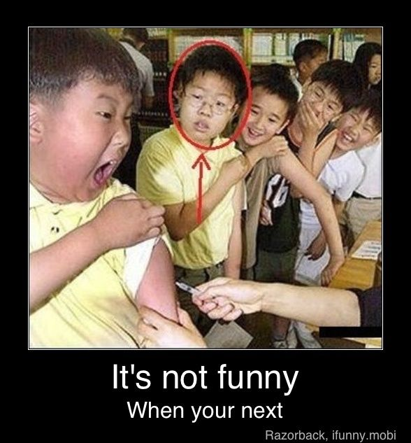 Haha! All the other kids are laughing... Except that next kid... Lol