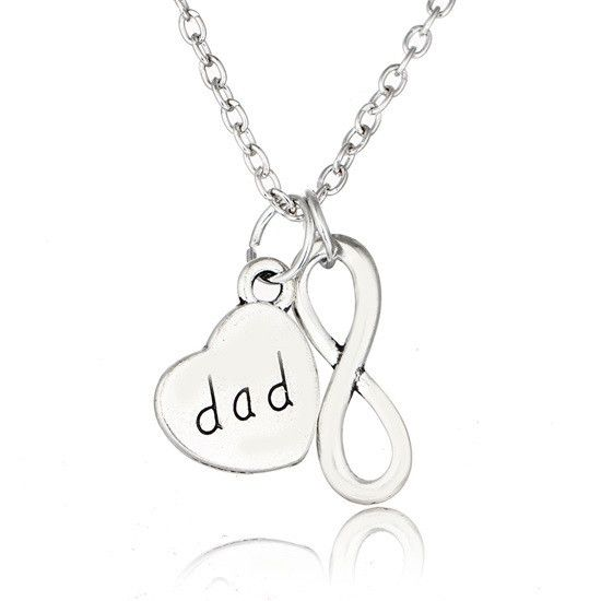 Love Dad Heart 925 Sterling Silver Charms Father and Son Family Bead for Bracelets,Mother's Day Gifts Jewellery