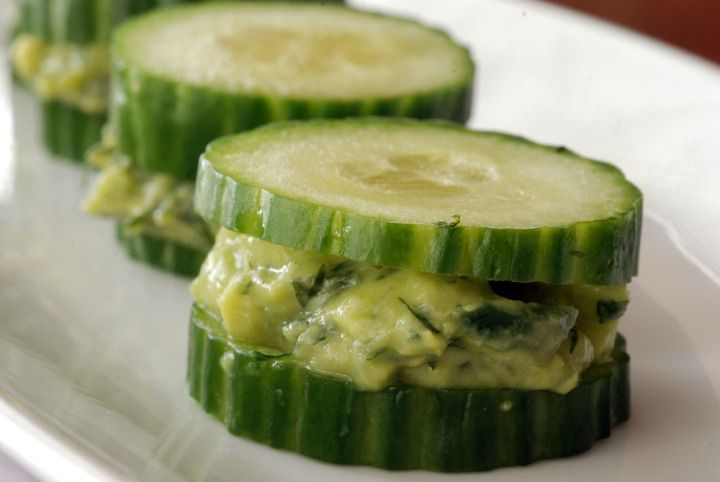 Cucumber Avocado Tea Sandwiches With Dill and Mint