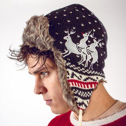 Reindeer Threesome Winter Hat from Firebox.com