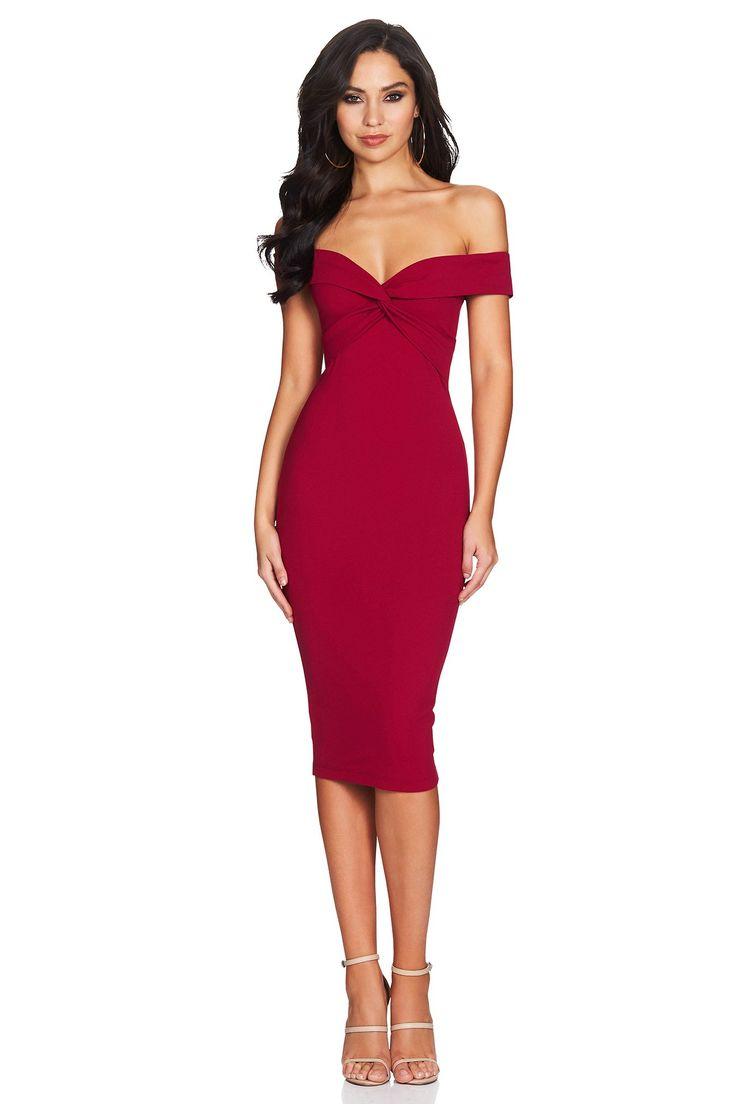 Nookie - Dolly Midi Dress In Ruby