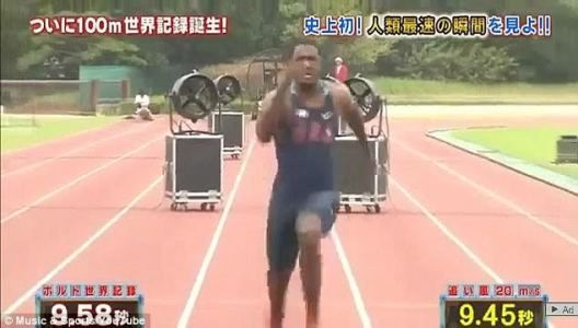 Justin Gatlin breaks Usain Bolt's 100m record at 9.48seconds but it won't count   Usain Bolt is officially the world's fastest man at 9.58 seconds for 100m but his record was broken yesterday by American athlete Justin Gatlin at 9.45 seconds. Unfortunately for Justin the feat won't count because it was at a Japanese TV Show rather than an IAAF organized event/competition. Usain Bolt's record was set at Berlin World Championships in 2009 and hasn't been broken since then but Gatlin is…