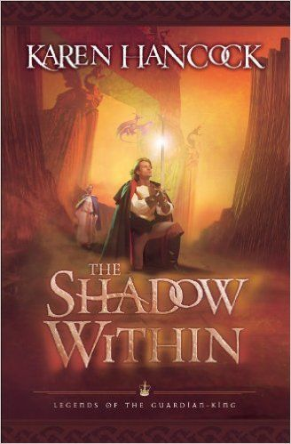 The Shadow Within (Legends of the Guardian-King #2) by Karen Hancock.  Four years have passed since the conclusion of The Light of Eidon. Abramm has been living peacefully abroad, but when he hears of trouble in his homeland, he returns to claim the crown he thought he'd never wear.