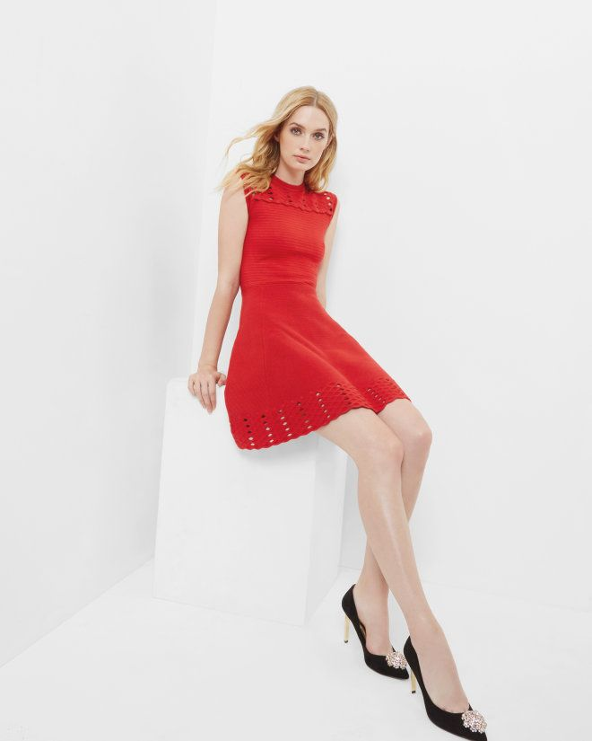 Ted Baker ZARALIE Jacquard Cut-Out Dress - £149