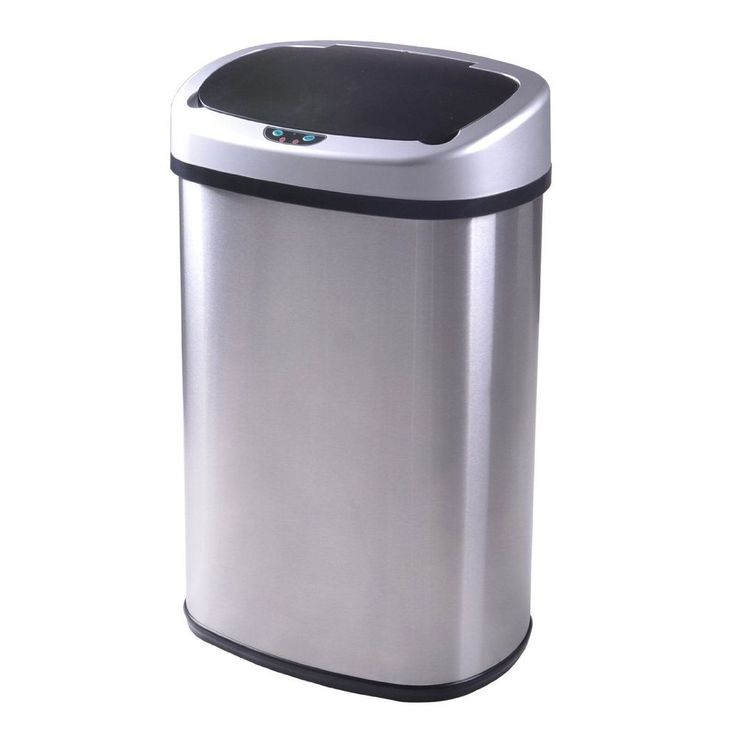 New 13-Gallon Touch-Free Sensor Automatic Stainless-Steel Trash Can Kitchen  50R | Home & Garden, Household Supplies & Cleaning, Trash Cans & Wastebaskets | eBay!
