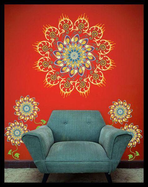 25 melhores ideias sobre mandalas en paredes no pinterest for Mandalas de decoracion para pared
