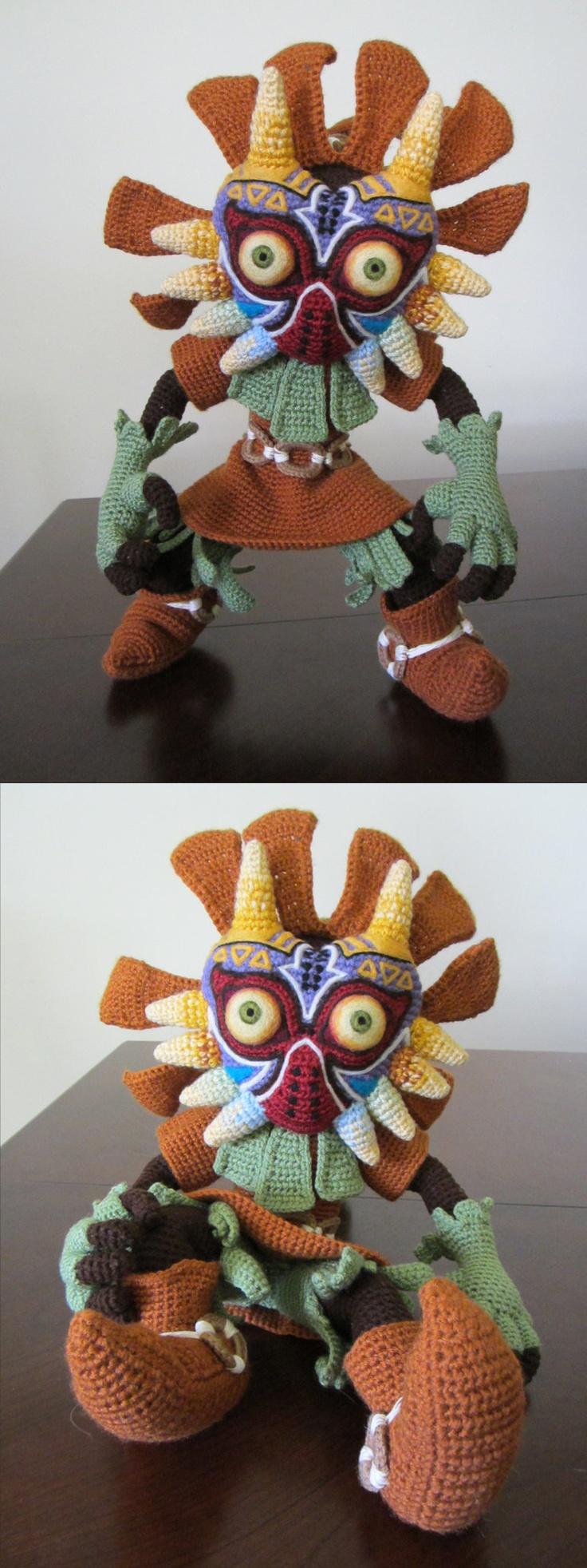Skull Kid crocheting