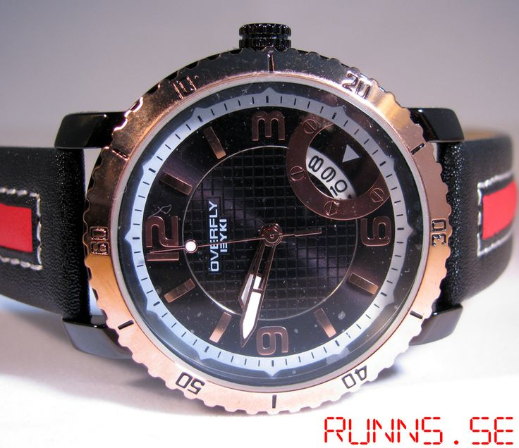 Armbandsur Eyki - Overfly Sport (svart/röd) #eyki #kimio #sportklocka #sportklockor #armbandsur #klocka #klockor #herrklocka #herrklockor #runns #watch #watches #nato #natoband #overfly