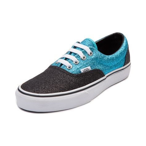 Vans Shoes  Men Shoes  Era Glitter  Glitter Skating  Vans Era  AmazingVans Blue And Black Glitter
