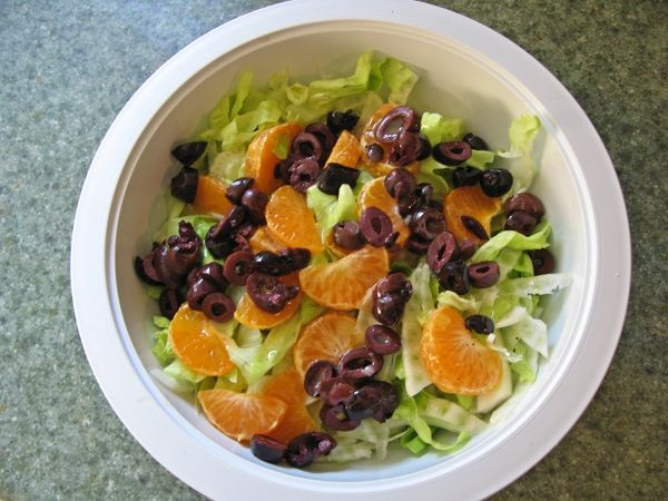 fennel orange olive salad; one of my favorites!  Hungry for it now.Orange Salad, Fennel Orange, Orange Olive