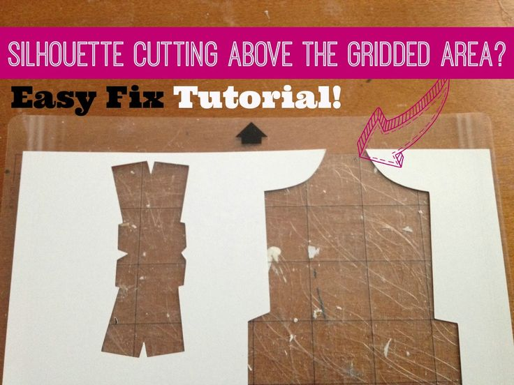 Silhouette School: Silhouette cutting above the gridded area? How to fix it (on Portrait and Cameo)