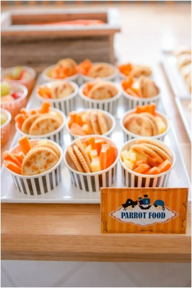Themed Food Ideas for Boys Pirate Birthday Party www.spaceshipsandlaserbeams.com