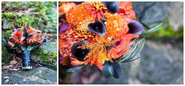 Halloween Bouquet in deep rich colours