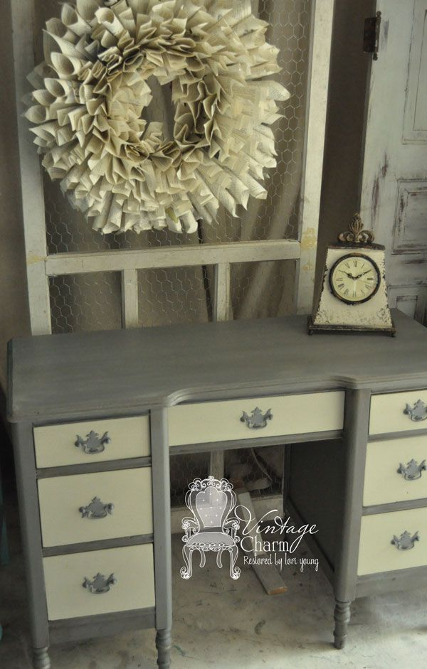 love the colors painted desk makeover - Desk Colors