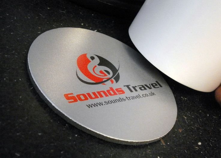 Some great Round Q-Mat Coasters printed with Sounds Travel Ltd Logo. We hope your promotion goes well! #promo #coaster #travel