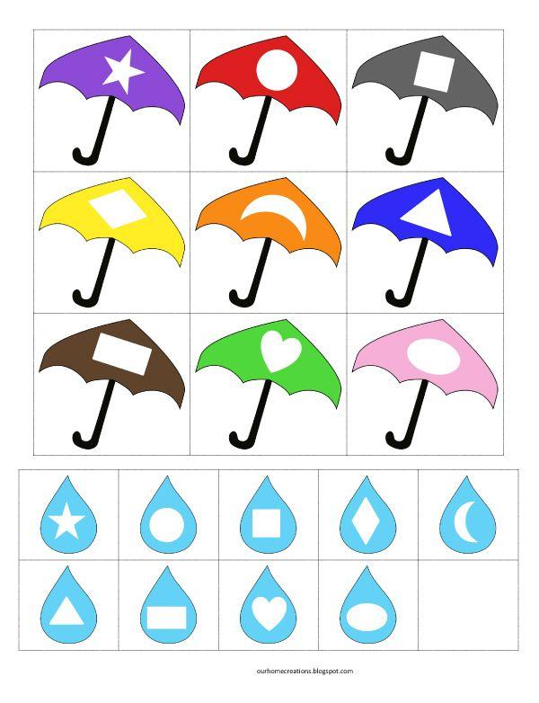 Umbrella+and+rain+shape+match.jpg 600×782 pixels