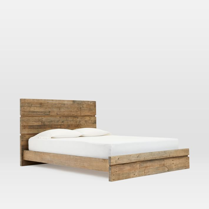 Emmerson Bed King Stone Gray Wood Beds Reclaimed Wood Beds