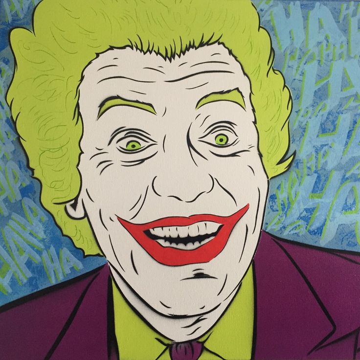 Recently finished my take on Cesar Romero's The Joker. I love the craze that was captured in his face.