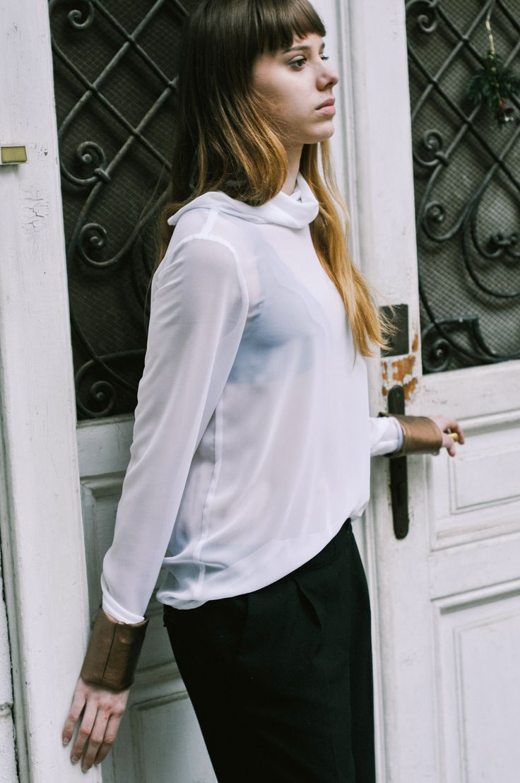 Grétka is wearing a chiffon blouse, that will be a part of the new collection. Shop here: http://meandm.bigcartel.com/
