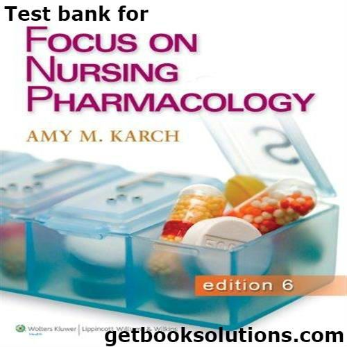 30 best pharmacology book reviews images on pinterest book reviews test bank for focus on nursing pharmacology 6th edition by amy morrison karch fandeluxe Choice Image