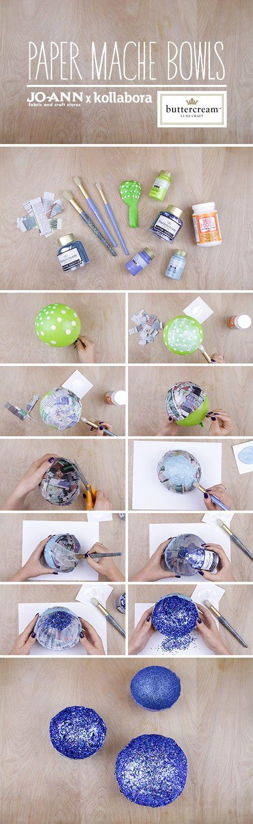 Best 25 paper mache bowls ideas on pinterest scraps of for Diy paper bowl