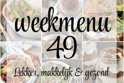 Lekker, makkelijk en gezond weekmenu week 50 met deze week een heerlijk, gezond gerecht uit de wok, sinterklaas lekkernijen en een verrukkelijk toetje toe.
