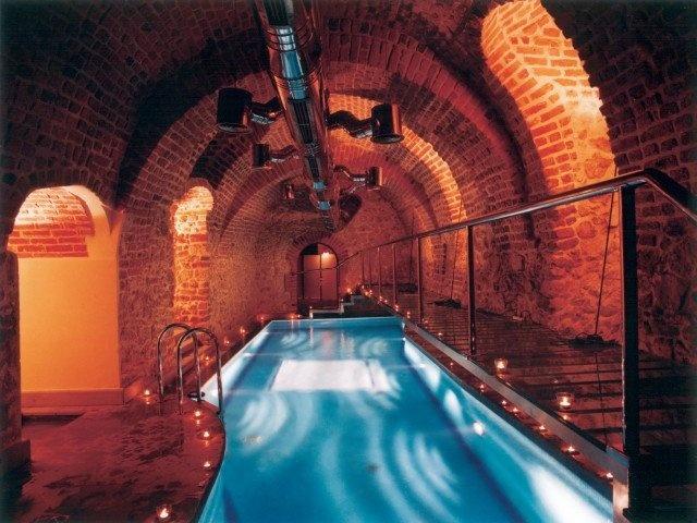 Gothic underground pool, Hotel Copernicus, Krakow, Poland