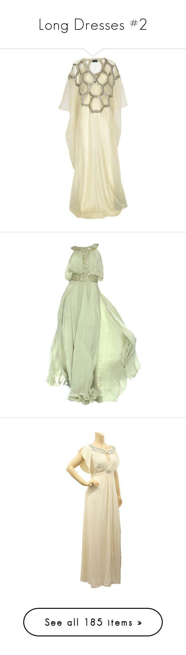 """Long Dresses #2"" by maarij ❤ liked on Polyvore featuring dresses, gowns, long dresses, halston, women, full length slip, beige long dress, long floral dresses, long kaftan dress and sequin dress"
