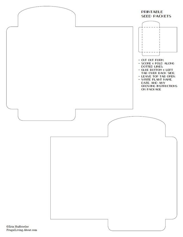 Use this seed packet template to create your own custom seed packets. Page 5.