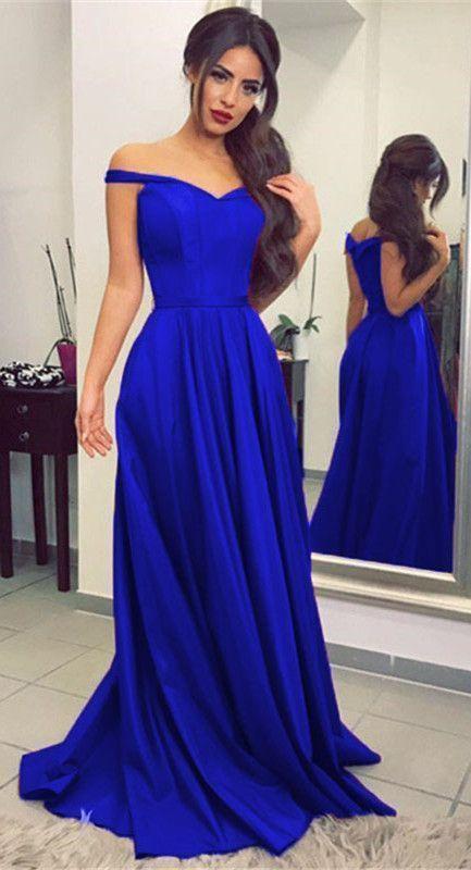 c846028012 V Neck Off Shoulder Long Prom Dresses Formal Evening Gowns