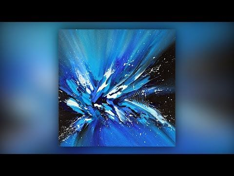 Simple Abstract Painting Techniques / Acrylic / Spatula / Blue / Demo # 028 – YouTube