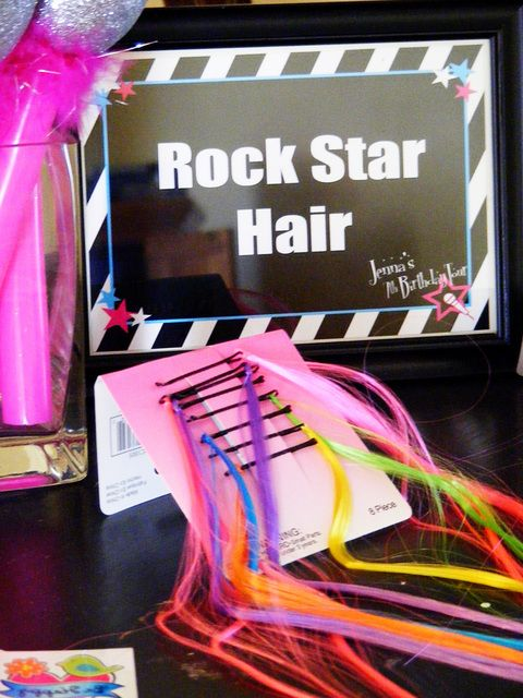"Photo 19 of 59: Rockstar Birthday / Birthday ""Jenna's 7th Birthday Tour"" | Catch My Party"