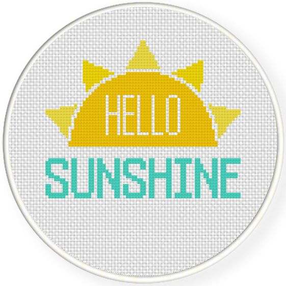 FREE for Oct 12th 2015 Only - Hello Sunshine Cross Stitch Pattern