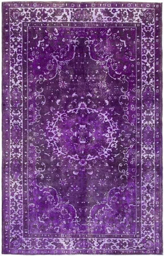 Vintage purple handwoven one of a kind Turkish rug