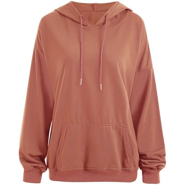 Orange Yellow XL Plus Size Drop Shoulder Plain Hoodie with Pocket ($15) ❤ liked on Polyvore featuring tops, hoodies, brown hooded sweatshirt, yellow hoodies, womens plus hoodies, yellow hoodie and yellow hooded sweatshirt