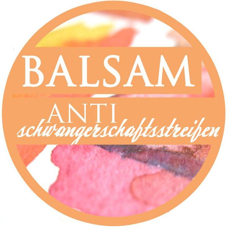 Balsam Antischwangerschaftsstreifen Etikett 7cm