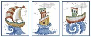 Кораблики - Корабли, парусники - Морская тематика - Схемы в XSD - Кладовочка схем - вышивка крестиком