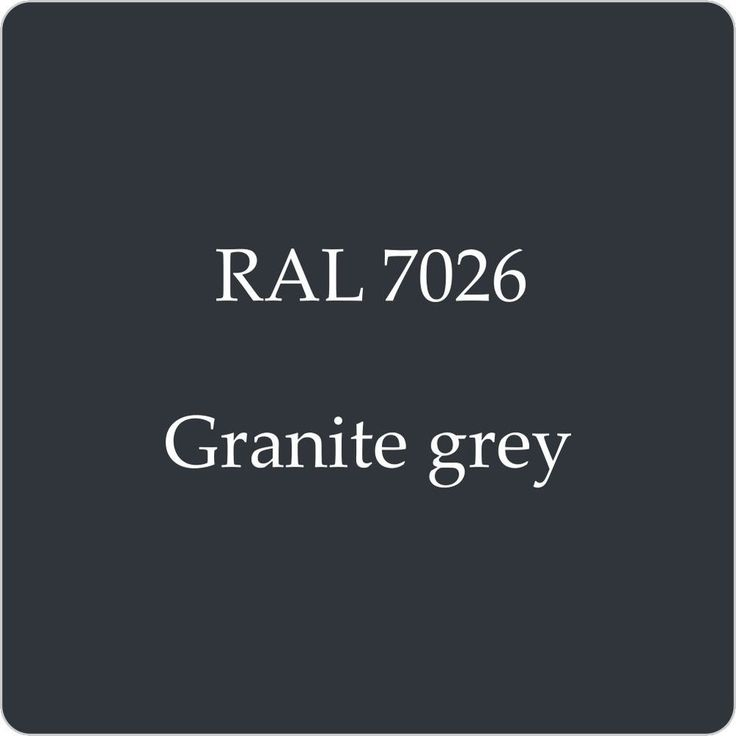 RAL 7026 CELLULOSE CAR BODY PAINT GRANITE GREY 1L WITH FREE STRAINER