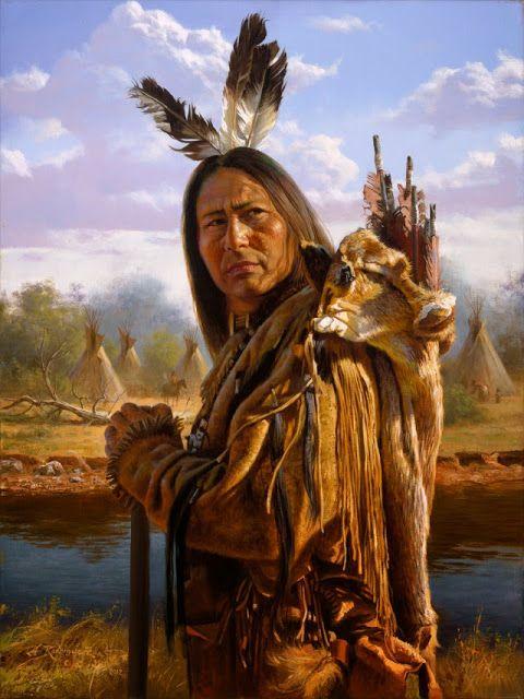 O síndios da América do Norte, povo autóctone, legítimos americanos, hoje reduzidos a uma minoria, viviam sossegadamente do tr...