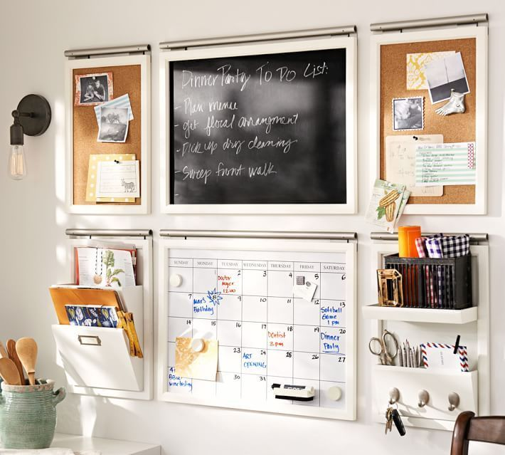 get organized in 2016 banish the clutter and get the whole family organized with a - Kitchen Wall Organization Ideas