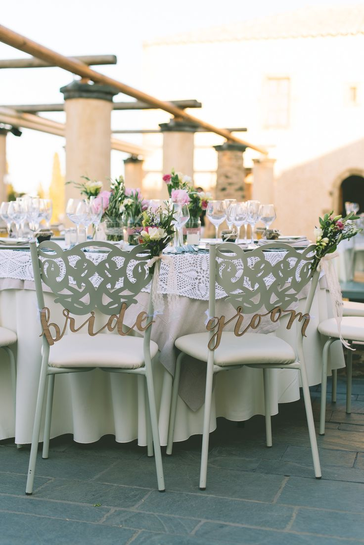 Who said that the bridal chairs don't need decoration? #bridalchair #chair #bride #groom #signage #elegant #calligraphy #beautiful #weddingplanner #dreamsinstyle #decoration